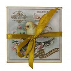"""Мыло в подарочной коробке """"Христос воскресе"""" с цыпленком"""