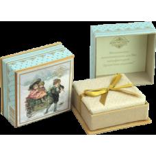 Мыло в подарочной коробке (голубая)