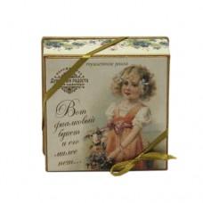 """Мыло в подарочной коробке """"Считалочки. Вот фиалковый букет и его милее нет..."""""""