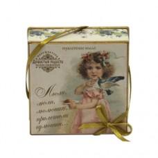 """Мыло в подарочной коробке """"Считалочки. Люли, люли, люлюшки, прилетели гулюшки..."""""""
