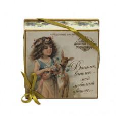 """Мыло в подарочной коробке """" Считалочки. Василек, василек - мой любимый цветок..."""""""