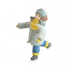 """Коробка с ватной игрушкой малой  """"Мальчик на коньках"""""""