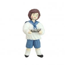 """Коробка с ватной игрушкой малой  """"Мальчик с корабликом"""""""
