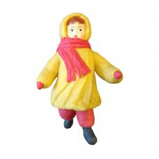 """Коробка с ватной игрушкой малой """"Девочка в шарфике"""""""