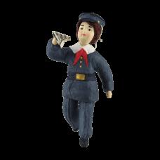 """Коробка с ватной игрушкой малой  """"Пионер с самолетом"""""""