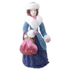 """Коробка с ватной игрушкой """"Дама с ридикюлем"""""""